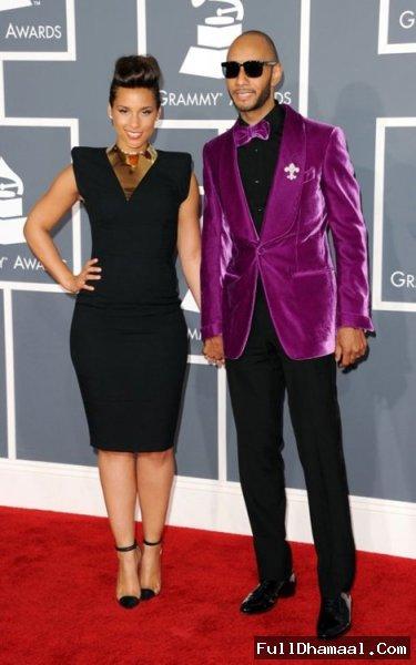 Alicia Keys And Swizz Beatz At 54th Grammy Awards
