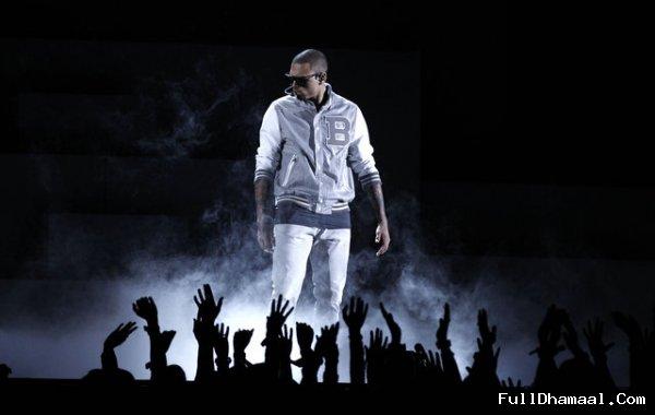American Singer Chris Brown At 54th Grammy Awards Los Angeles