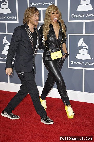 David And Cathy Guetta At Grammy Awards Los Angeles