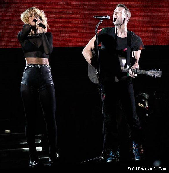 British Alternative Rock Band Coldplay And Rihana Performing At 54th Grammy Awards Red Carpet Los Angeles