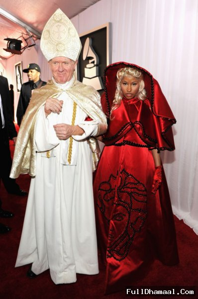 American Singer And Musician Nicki Minaj At Staples Center During The 54th Grammy Awards In Los Angeles, California, February 12, 2012