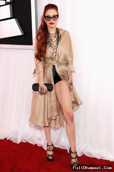 American Pop-Rock Singer Porcelain Black At Grammy Awards Los Angeles