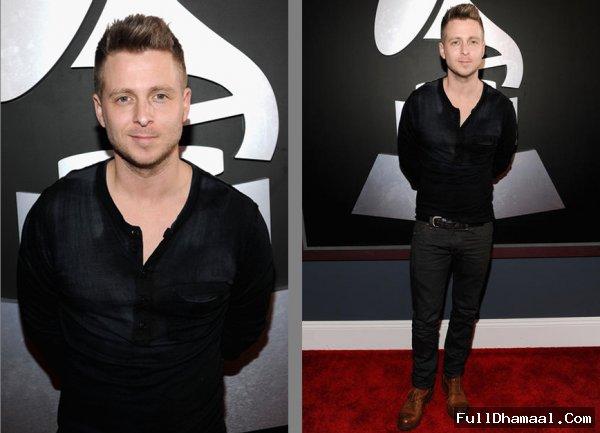 American Singer Ryan Tedder At Grammy Awards Red Carpet 2012