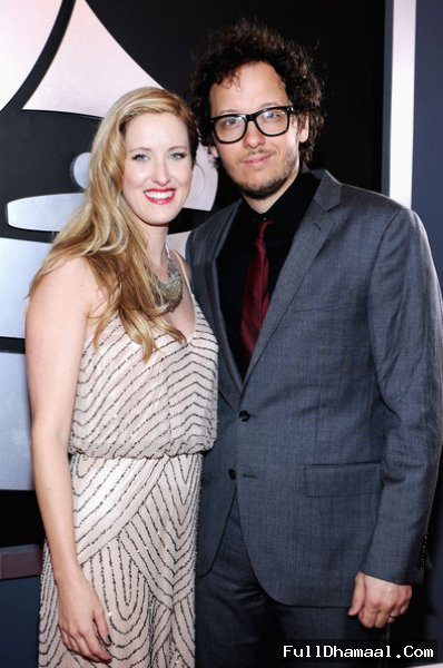 Singer Michael Gungor (R) and Lisa Gungor At 54th Los Angeles Grammy Awards 2012