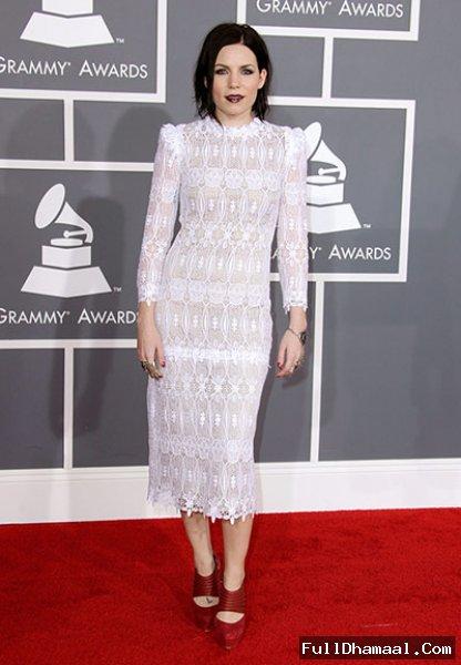 Singer Skylar Grey At 54th Grammy Awards 2012