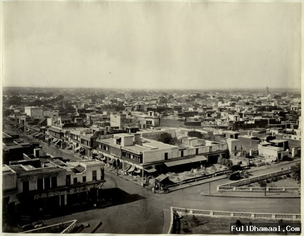A Picture Of Chandni Chowk Taken From Jumma Masjid In Year 1870.
