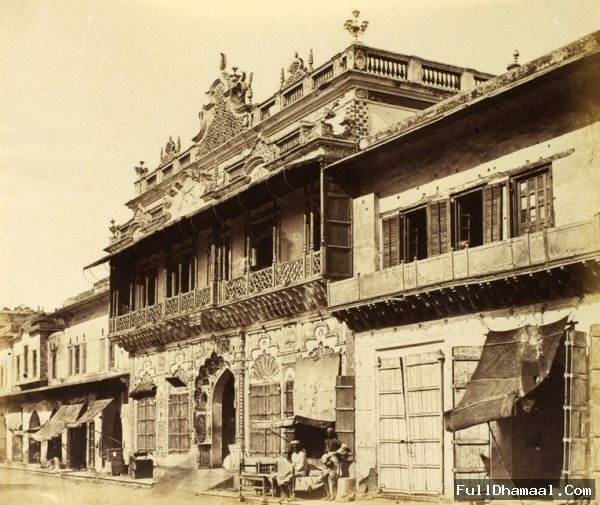 Main Street Of Chandni Chowk, Delhi In Year 1858