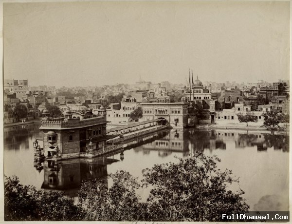 A Picture Of Amritsar's(Punjab) Golden Temple Taken In 1880's