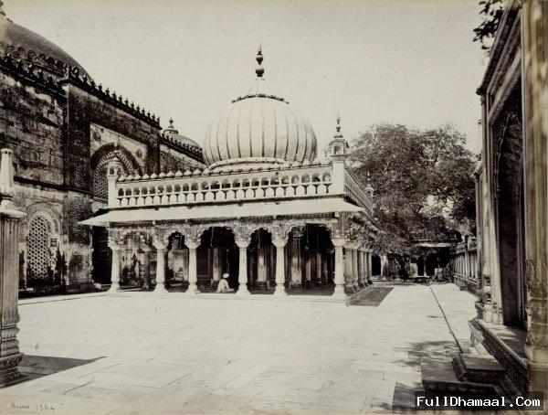 An archaic Picture Of Hazrat Nizamuddin Dargah - Delhi Taken In 1860's