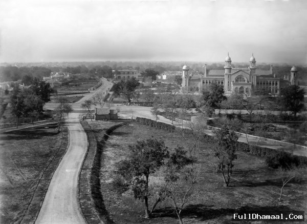 Vintage photograph of the Lahore High Court in Circa 1900. Taken from the Anglican Cathedral Grounds
