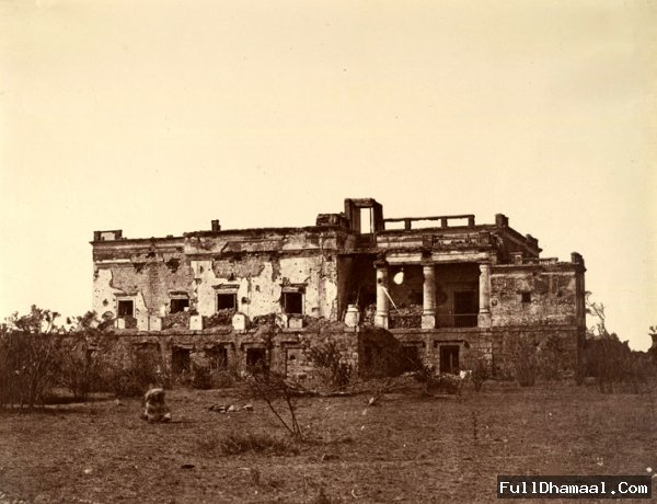 An archaic Of Hindoo Rao's House, Delhi -Taken In 1858, Where The Present Hindu Rao Hospital Is Located