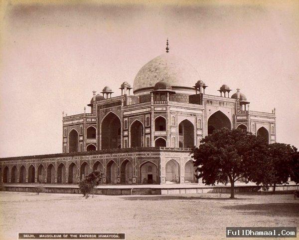 Humayun's Mausoleum (Tomb) - Delhi, 1860
