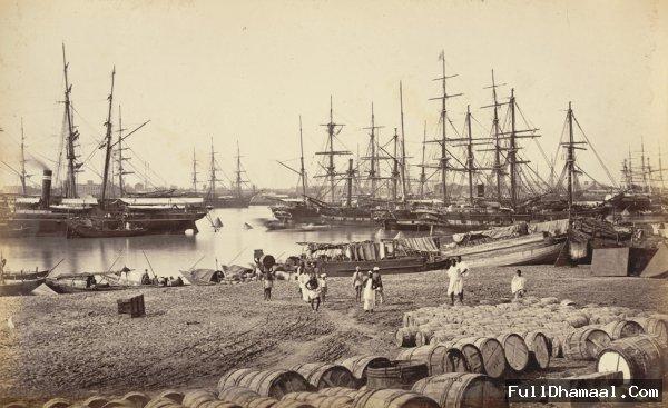 The Custom House Port Of Calcutta (Kolkata) 1865