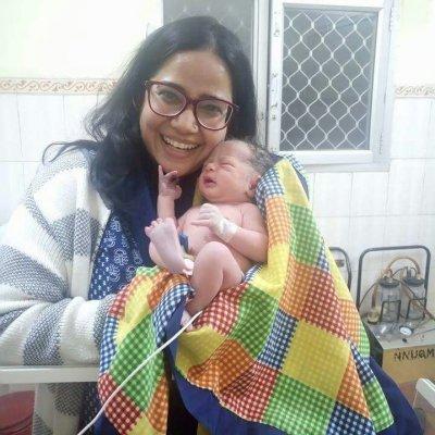 Sadaf with baby