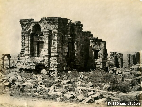 Photo Of Martand Temple From Srinagar-Kashmir-India, Taken In 19th Century