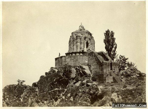 Shankaracharya Temple On Takht-E-Suleiman Hill Of Srinagar Kashmir 1880's