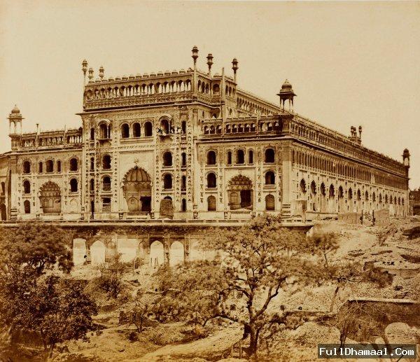 Southwest View of the Bara Imambara - Lucknow Uttar Pradesh  1858