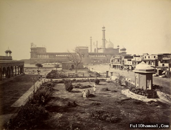 A Vintage Photograph Of Jama Masjid, Delhi From The Year 1865