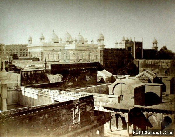 The Pearl Mosque or Moti Masjid Located Inside Red Fort Delhi - 1880's