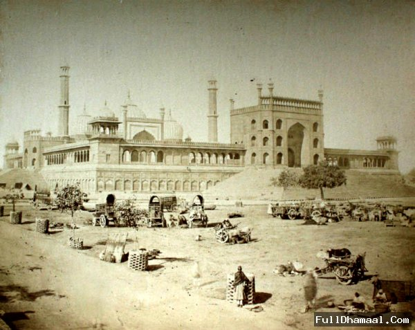 1860's Vintage View Of Jama Masjid Delhi