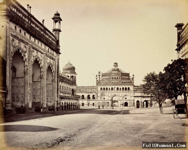 The Rumi Darwaza and The First Courtyard of the Bara Imambara Complex - Lucknow 1860's