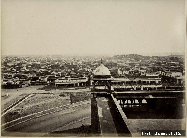 View of Delhi from Jama Masjid/Jumma Masjid - 1860's