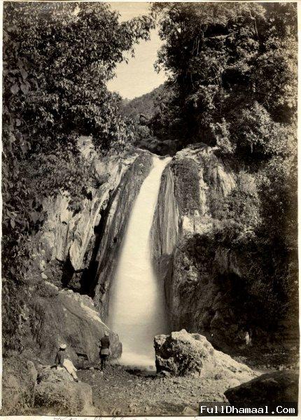 The Batta Waterfall below Mussoorie Church - 1860's