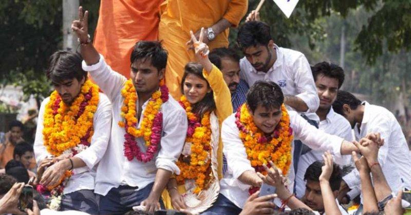 दिल्ली यूनिवर्सिटी छात्रसंघ चुनाव में एबीवीपी की करारी हार
